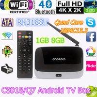 Wholesale MK888 CS918 TV BOX XBMC G G Bluetooth Android Kitkat Smart TV BOX T R42 RK3188T Quad Core Smart TV BOX KODI
