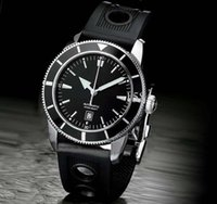 Cheap Free Shipping Superocean Heritage Luxury Brand Mens Watch Mechanical Watches Automatic Black Dial Date Rubber Strap BR066