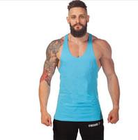 Wholesale Animal Gym Titan Stringer Tank Top Mens GASP Brand Singlet Tops Bodybuilding and Fitness Shirt Regatas Clothes Vest Men M XXL