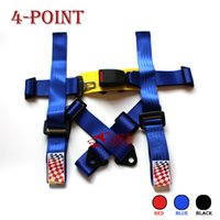 4-point belts auto racing harness - Manufacturers point Universal Car Auto Racing Sport Seat Belt Safety Harness Strap BLACK BLUE RED