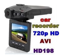 Wholesale DHL free H198 HD Car DVR Camera Blackbox quot Vehicle Video Voice Recorder Cam IR LED Night Video