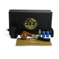 Cheap Electronic cigarette E pipe 618 wood style with detachable Epipe Clearomizer mod kit 05