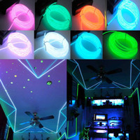 flexible neon light strip - Xmas Flexible Neon Light Glow EL Wire Rope Cable Strip LED Battery Conctoller meters
