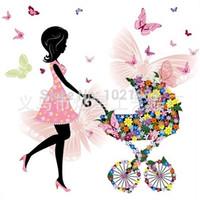 go cart - Flower Fairy carts diy diamond painting diamond embroidery d cross stitch kits full resin masic inlaid go to shopping new