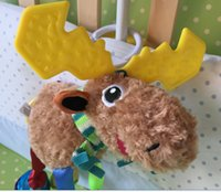 Cheap Wholesale-Promotion Cute Deer Soft Plush Toy Baby Prams Bed Hanging Baby Toy Gift LM009 Free shipping