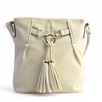 Wholesale Womens Tassels Bucket pu Leather Tote Shoulder Bag FF N02