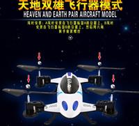 contrôle de WIFI RC drones voler et courir hélicoptère voiture jouet Quadcopter avec 2M HD 2.4G 6 axes avec la lumière 2 nouvelle fonction