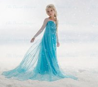 Wholesale ONE PCE NEW frozen dress style girls party clothes elsa dress children princess dress girls clothes