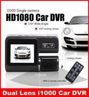 night view lens - GB Dual Lens Camcorder i1000 Dual Camera Car DVR HD P Dash Cam With Rear Cam Vehicle View Dashboard Cameras Free DHL