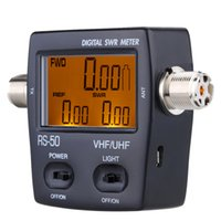 Wholesale Digital LED Backlight SWR Standing Wave Ratio Power Meter Electrical Instruments W for HAM UHF VHF USB Interface MHz order lt no t