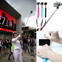Wholesale NEW Camera Selfie Monopod Camera Extendable Handheld Telescoping Pole Cell Phone Holder Colors Choose IVA