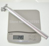 al bikes - bike seat post mm mm length AL material D technology Polished silver ultralight g only