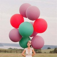 Wholesale 36 inch Round Bubble Balloons Big Balloons g Latex Birthday Wedding Bubble Balloons And Retail