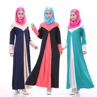 best abayas - 2016 Best Selling Abaya Design Chiffon Two Layers A Line Long Sleeves Islamic Plus Size Dubai Long Robe Muslim Long Dress
