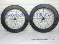 bicycle wheel rims - 2015 Newest dark decal wheels full carbon wheel mm rim bicycle wheelset with powerway R36 straight pull hubs or novatec hubs