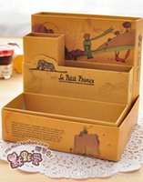 Wholesale little prince OZ Alice storage organizer box vintage DIY desktop pen box illustrator collection holder stationery A5