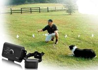 Wholesale 2014 Brand New Waterproof dog fence Electronic Smart Dog In ground Pet Fencing System shock collar BLACK High Quality