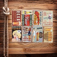 Wholesale Happy Beer Time Wall Painting Retro Tin Oktoberfest Wacky Wiessen Home Decor Metal Poster