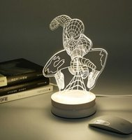 Wholesale 2016 Creative Acrylic Cartoon D Lamp LED Night Lights Ball Heart Shape KT Table Desk Lamp Home decoration lights