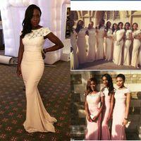 best designer bridesmaid dresses - 2015 Vintage Lace Chiffon Bridesmaid Dresses Floor Length Pleats Long New Designer Prom Party Gowns The Best Selling Hot