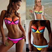 Wholesale Sexy Women Bandage Bikini Set Push up Padded Bra Swimsuit Bathing Suit Swimwear bikini YY56