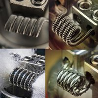Wholesale Tiger Coil Clapton Coil Vaporizer Wire Alien Tiger Fused Clapton Flat Twisted Mix Twisted Hive Quad Premade Heating Wrap Coils for Vape RDA