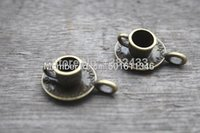 antique cups and saucers - 10pcs Cup and Saucer Charms Antique Bronze Lovely D Coffee Cup Charm Pendant x18mm