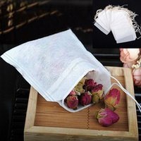 herbal tea gifts - 100 Empty Teabags String Heat Seal Filter Paper Herb spice herbal powder White Loose Tea Bags Gift bag
