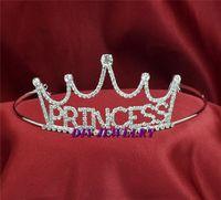 Cheap Bridal Crystal Word Princess Girls Veil Tiara Crown Headband DR134