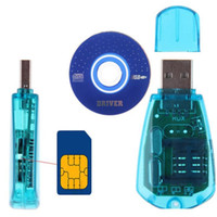 Wholesale Best USB Cellphone Standard SIM Card Reader Copy Cloner Writer SMS Backup GSM CDMA CD east