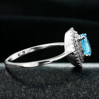 amethyst aquamarine jewelry - 2015 Solitaire Ring Unisex Patines Sterling Silver Inlaid Jewelry Priced Supply Natural Topaz Aquamarine Ring Micro Pave Ri101422