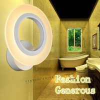 art deco bathrooms - 2015 New Modern Innovative Style Annular Indoor Lighting Acrylic Wall Lamp Bedroom Bedside Lamp LED Bathroom Light Wall Sconce
