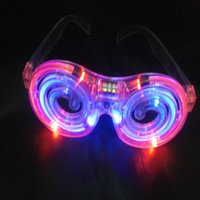 Wholesale LED Glowing glasses concert cheer Halloween props lollipop glasses toys Led Rave Toy Christmas gifts