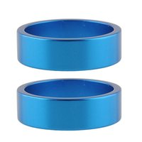 Wholesale New Pair Blue Alumnium Alloy Headset Fork Stem Spacers Gasket Washer for Rode Bike Bicycle Parts