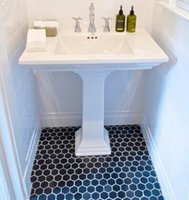Wholesale Hexagonal black ceramic mosaic tile bathroom kitchen bathroom Fanghuadezhuan mm mosaic