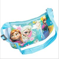 Wholesale Frozen colors kids girl powder crystal moon package picnic single shoulder lunch bag christmas gift school cute backpack topB1129