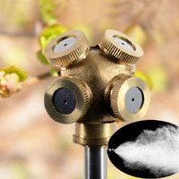Wholesale 4Hole Adjustable Brass Spray Misting Nozzle Garden Sprinklers Irrigation Fitting
