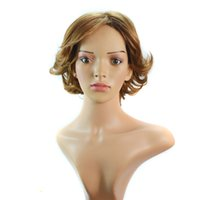 Wholesale New Arrival Human Wig Premium Women Short Curly Hair Wig Popular Synthetic Hair Wig g inch G0045