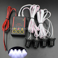 Wholesale Strobe Flashing Car Headlights - Car Truck 4W Strobe Emergency Warning Flash Eagle Eye Light Headlight White
