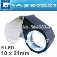 Wholesale Precision Foldable x Magnification Triplet Optic Lens Jeweler Loupe Magnifier LED light mm lens