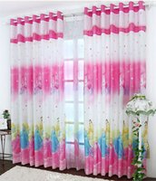 Wholesale 2015 Time limited Sheer Curtains Blinds Snow Cartoon Curtains Printed Curtain Cute Children s Room Kids for Window