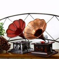 antiques phonographs - Zakka Grocery Retro Phonograph Handmade Old Metal Crafts Bar Decoration