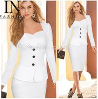 Wholesale New Arrival Blazer Women Business Suits Formal Office Suits Work Long Sleeve Knee Length Suits With Skirts Colours For Women