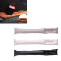 leather seat cover - 2Pcs Auto PU Leather Car Seat Pad Cover Universal Gap Filler Stopper Leakproof Soft Padding Accessories Protective Sleeve