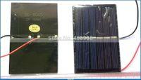 Wholesale 2pc Alligator Clip pc hook clip pc DIY Mini Epoxy solar Panel solar cell solar module W V mA mm with cable