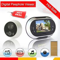 Wholesale 3 inch TFT Color LCD Screen Digital Induction Visual Monitor Doorbell Peephole Viewer Security Monitor Hot Sale Door Viewers
