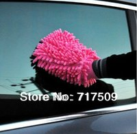 Wholesale for high quality Microfiber Car Cleaning Wash Mitt Gloves