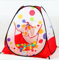 Cheap Children Kids Playing Tent Indoor&Outdoor Pop Up House Kids Play Game Kids Tent Toy Play Tent+50PCS 5.5CM Balls