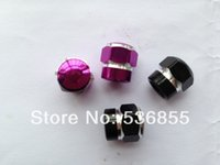 Wholesale cost metal colorful car tire valve cap stem mixed color available bag promotion