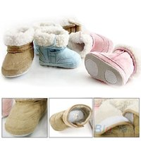 Wholesale New Baby Boys Girls Shoes Toddler Winter Snow Boots Turned over edge Months for Christmas Gift HZ